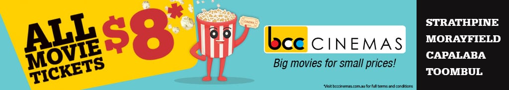 BCC Cinemas school holiday movie tickets $8