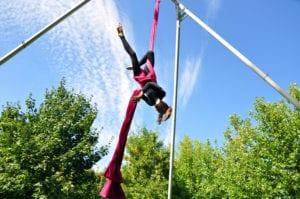 circus school aerial training