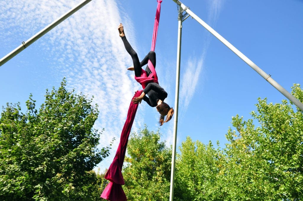 circus school aerial training