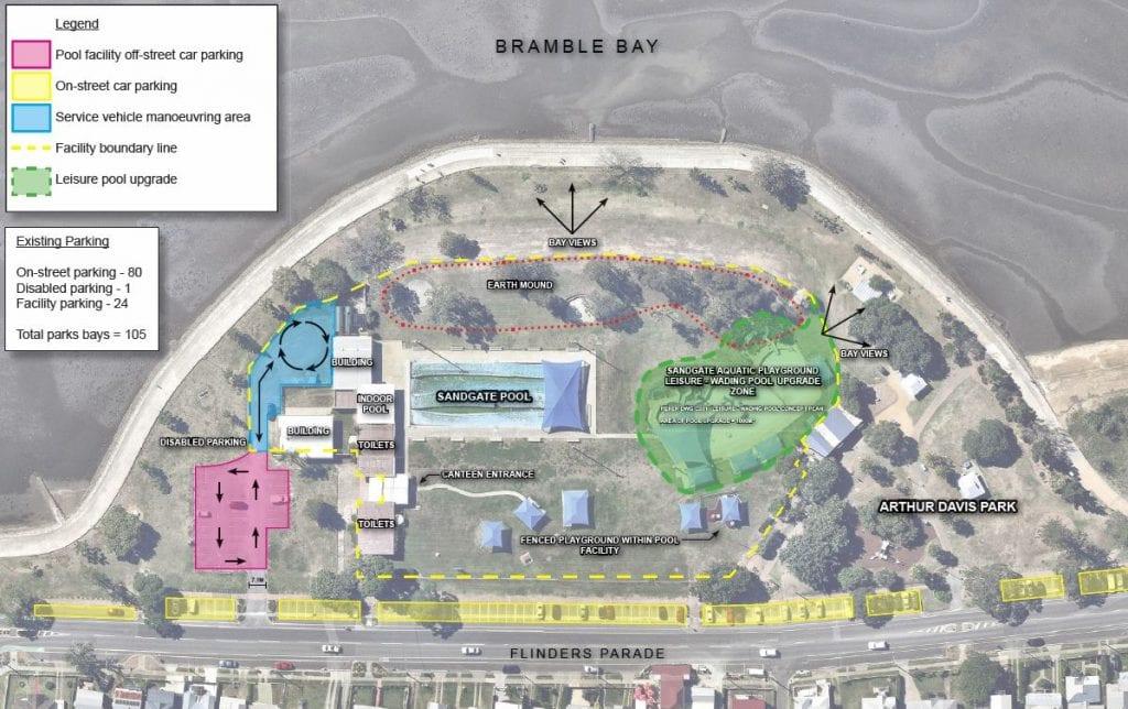 sandgate aquatic centre map