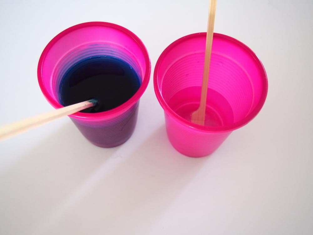 Mixing cups for Glitter Slime
