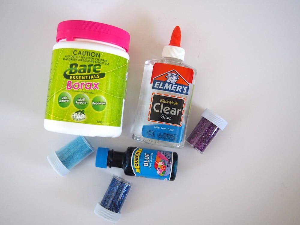 Australian Ingredients for Glitter Slime