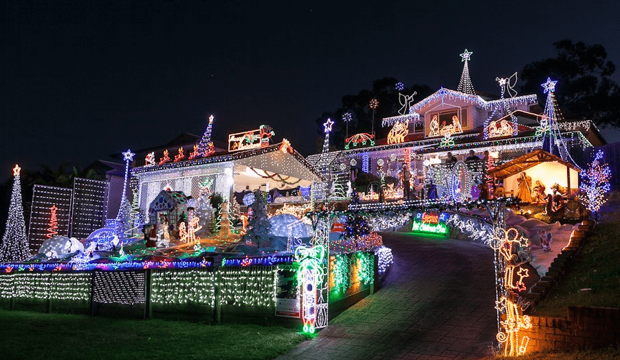 best christmas lights brisbane award winning display on lucy drive