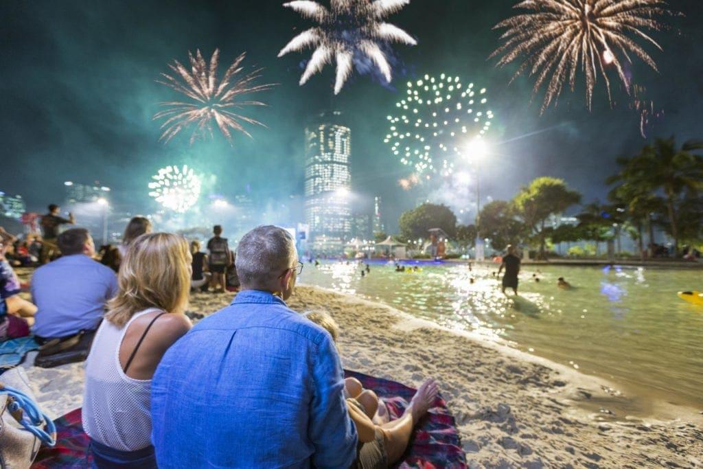 christmas in brisbane fireworks