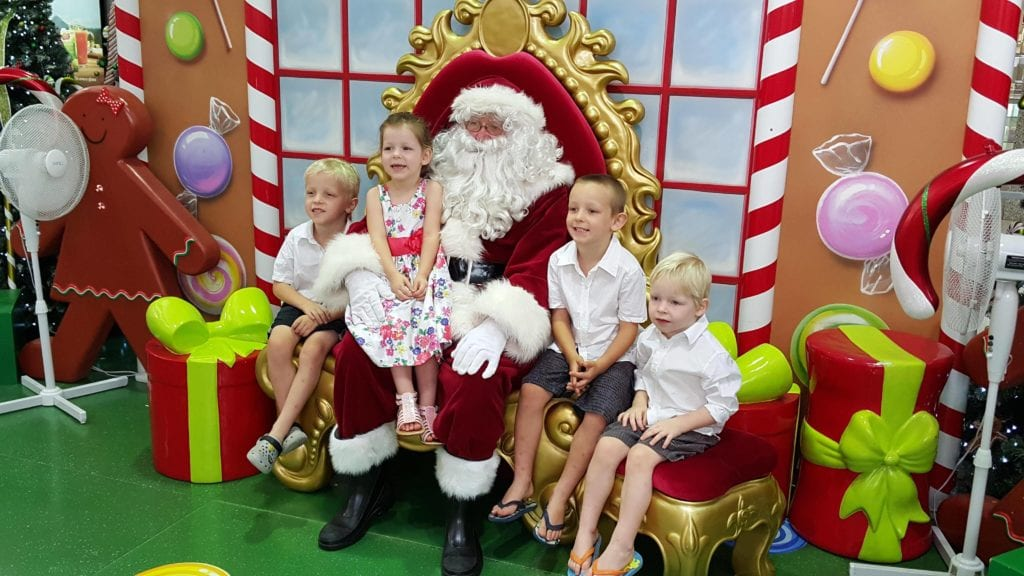 christmas with multiples and santa