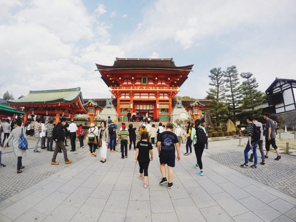 fushimi inari temple kyoto travelling with kids in japan