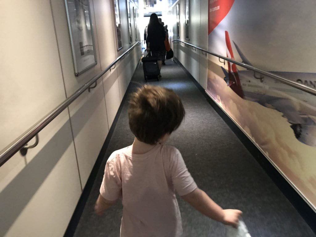 flying with small children runway