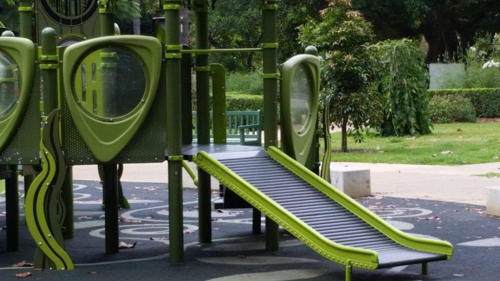 Sensory Slide at Brisbane Botanical Gardens Playground
