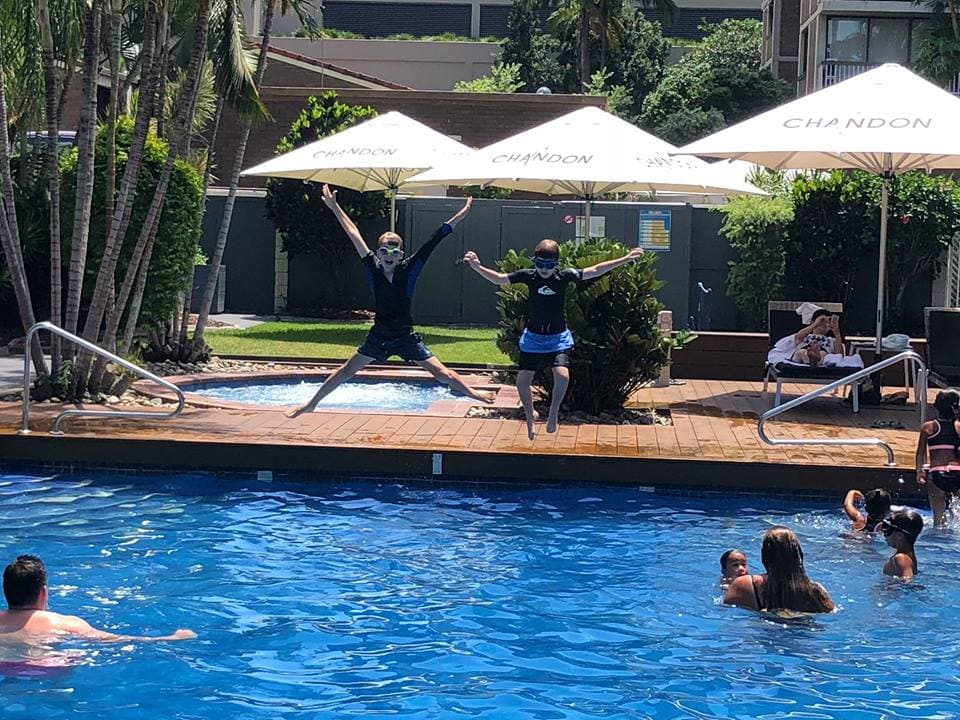 luxury long weekend activities pool