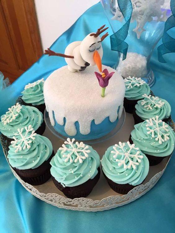 frozen party ideas cake