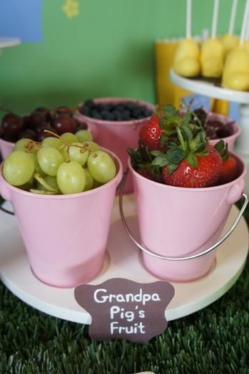 peppa pig party ideas fruit