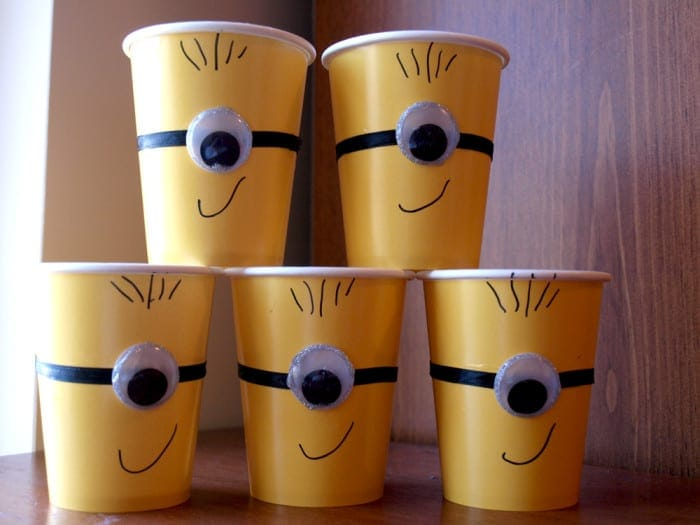 minions party ideas cups