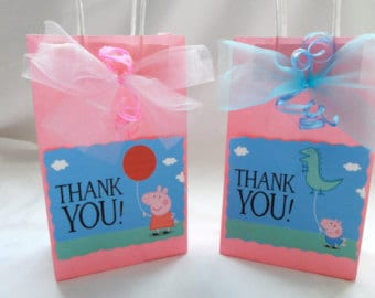 peppa pig party ideas bags