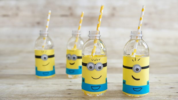 minions party ideas bottles