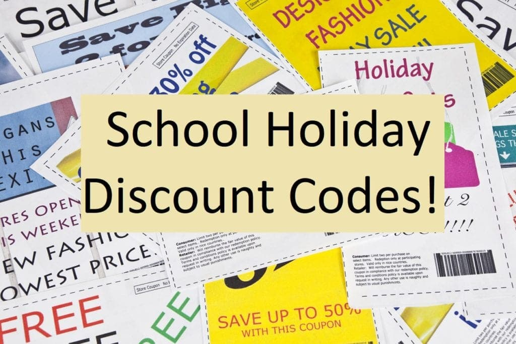 School Holiday Discount Codes
