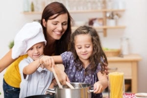 kids involved in the kitchen