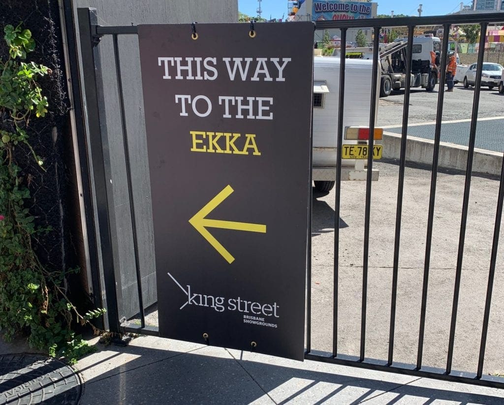 This way to the Ekka