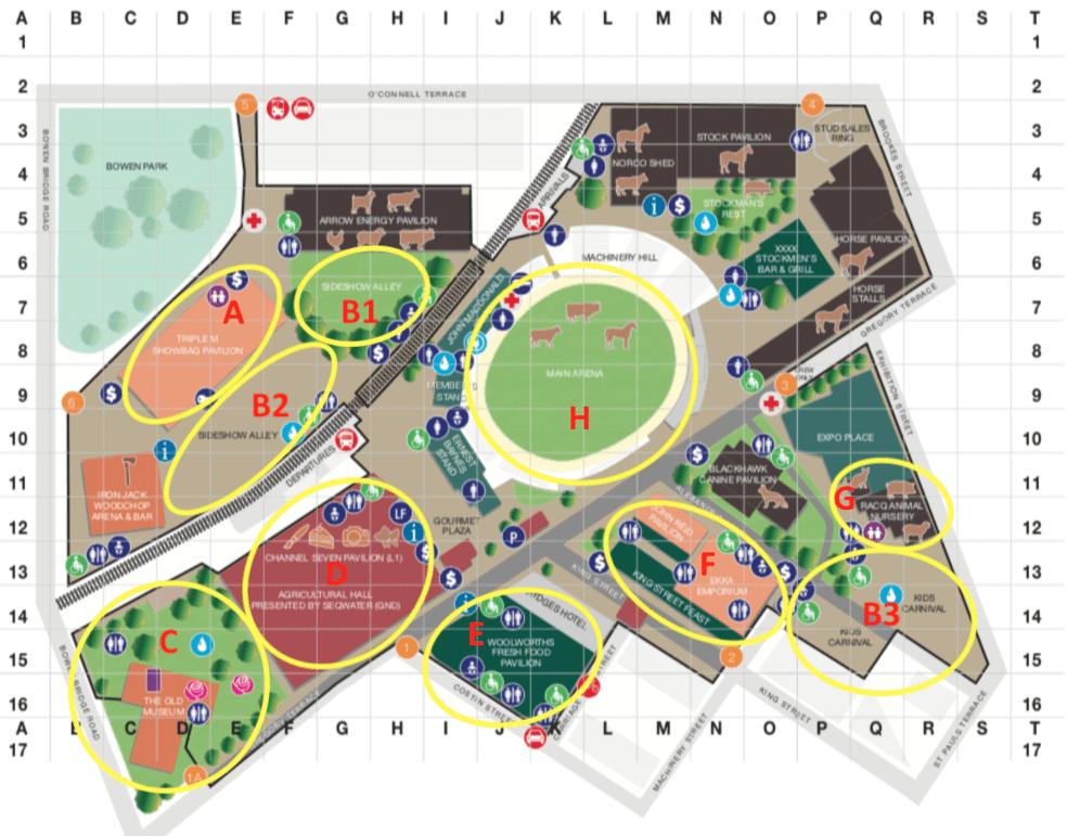 2019 Ekka Map