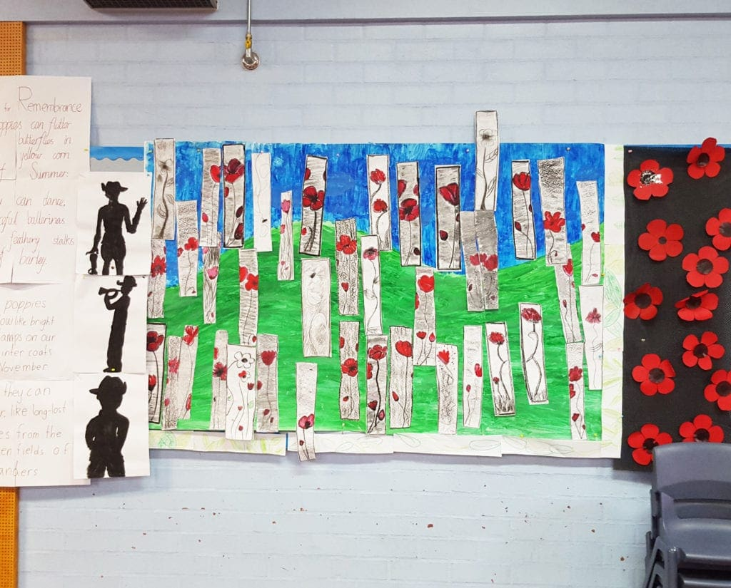 ANZAC Day Craft poppies