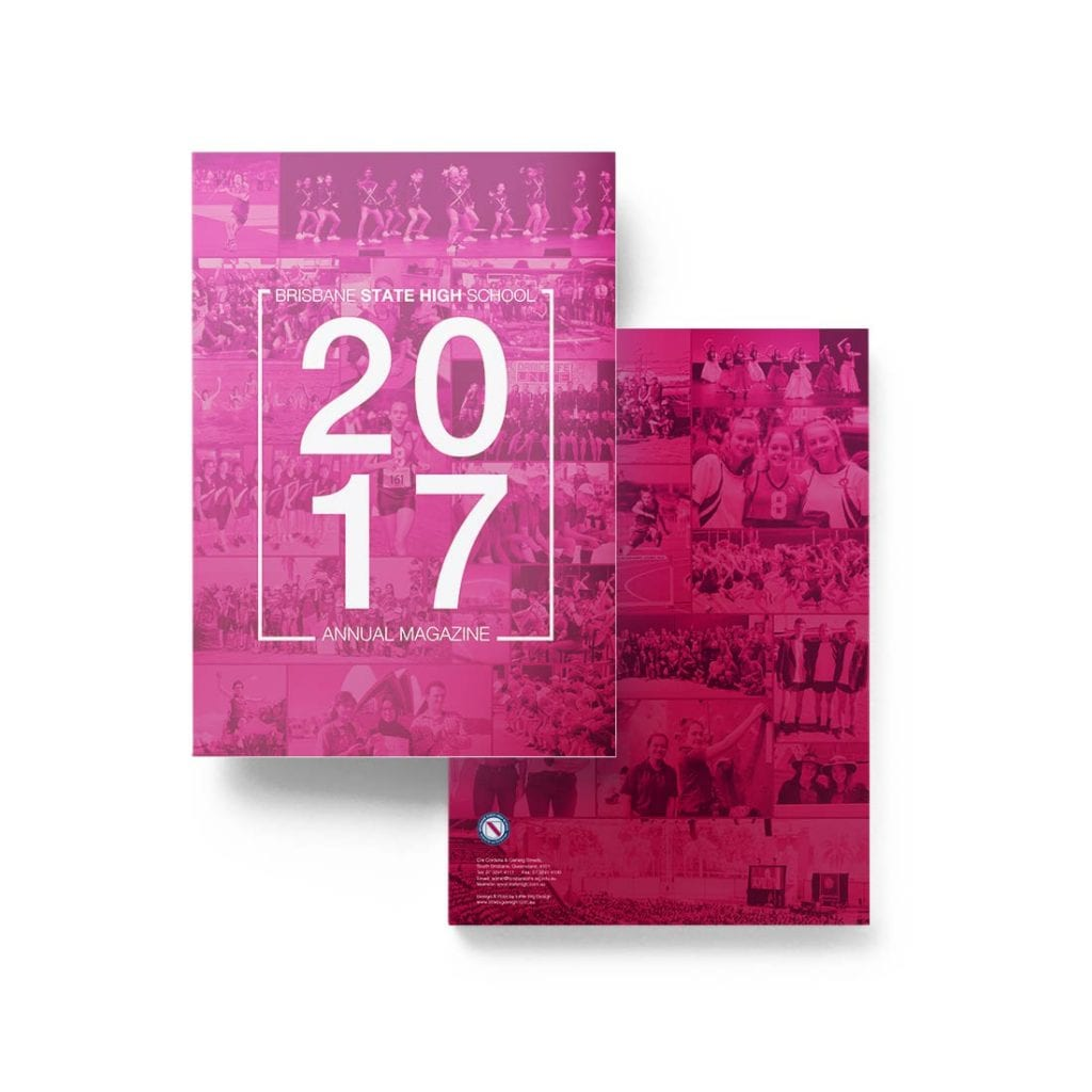 yearbooks pink