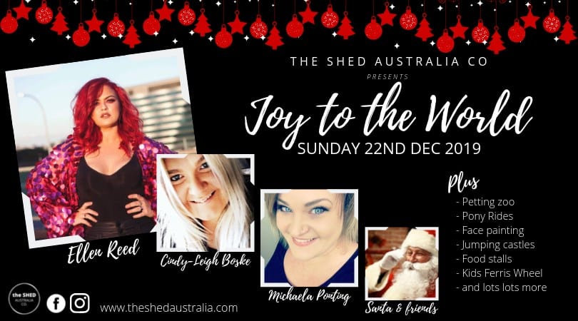 Joy to the World Christmas at the Shed