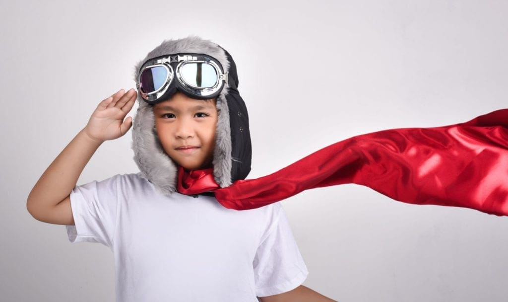 qut school holiday activities little boy hero