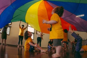Under the rainbow parachute