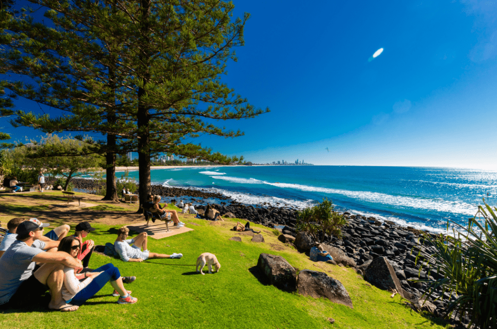 Burleigh Heads national Park entrance