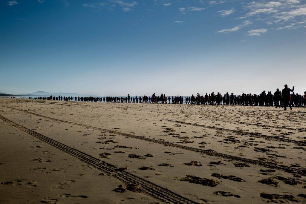 Coastrek walk on beach