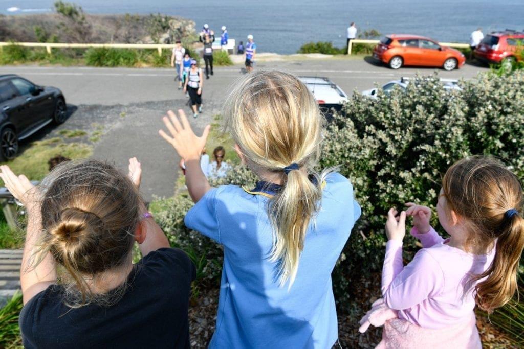 Kids cheering mum home