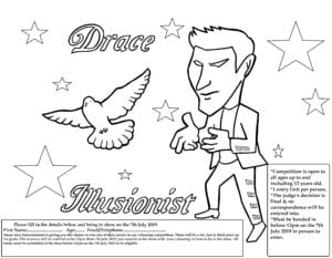 Illusionist colouring competition