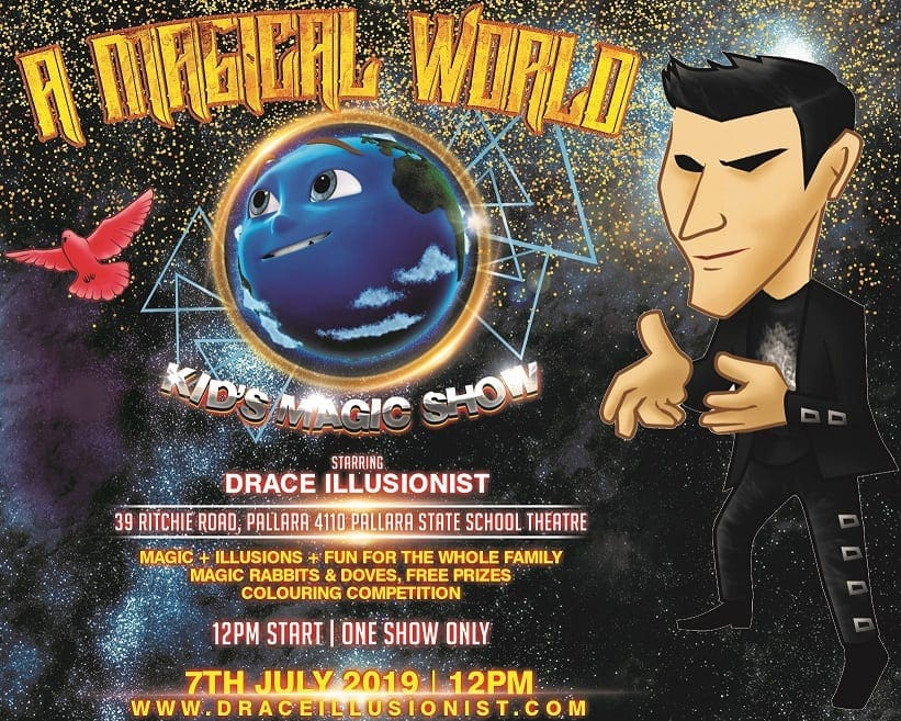 """'A Magical World"""" Kid's Magic Show with Drace Illusionist"""