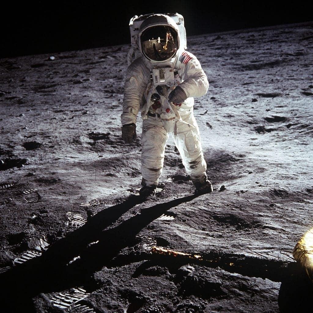 Buzz Aldrin on the moon