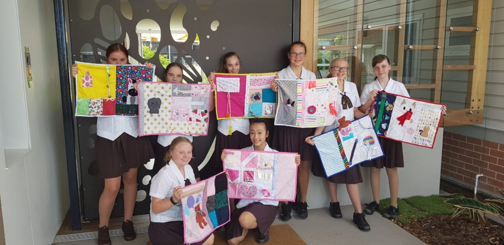 GLC Students with dementia Fiddle Quilts