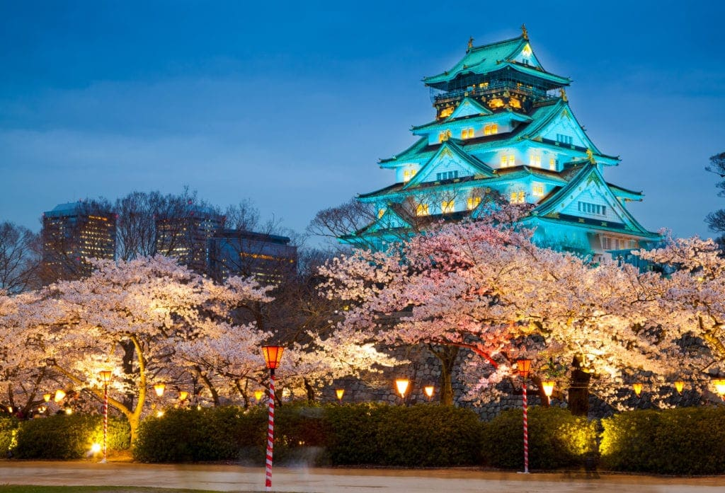 osaka with kids castle