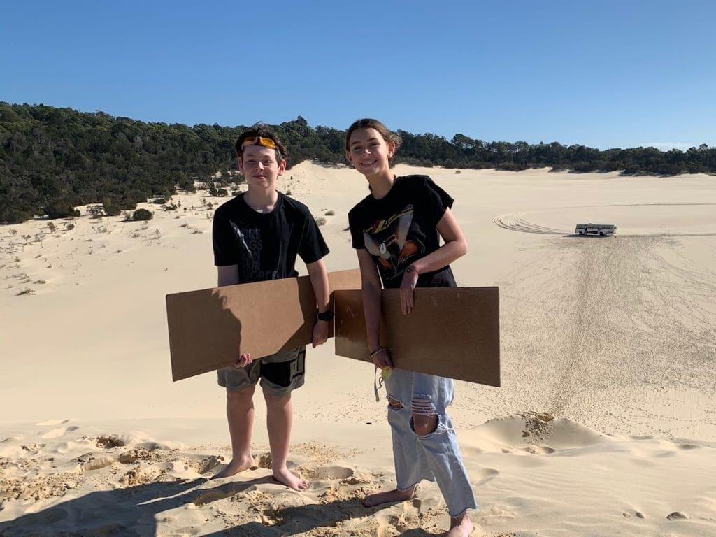 Sand Tobogganing