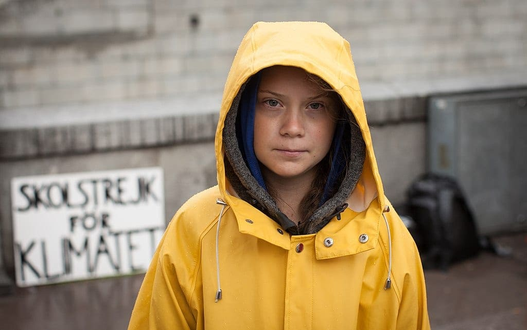 Greta Thunberg, photo by Anders Hellberg vi Wikimedia Commons