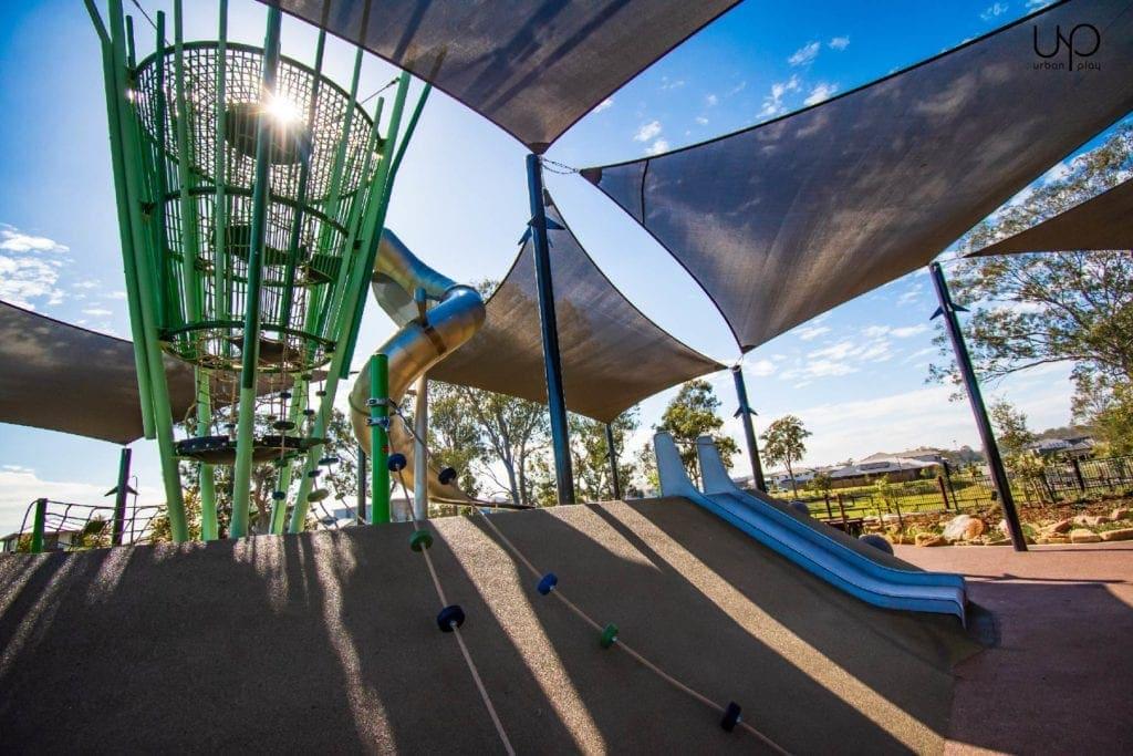 pallara park image of slides and tower