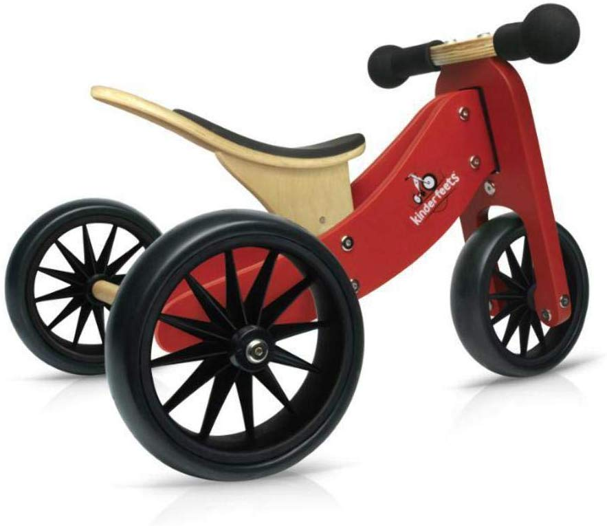 best toddler bikes - Kinderfeets Tiny Tot Convertible Wooden Balance Bike