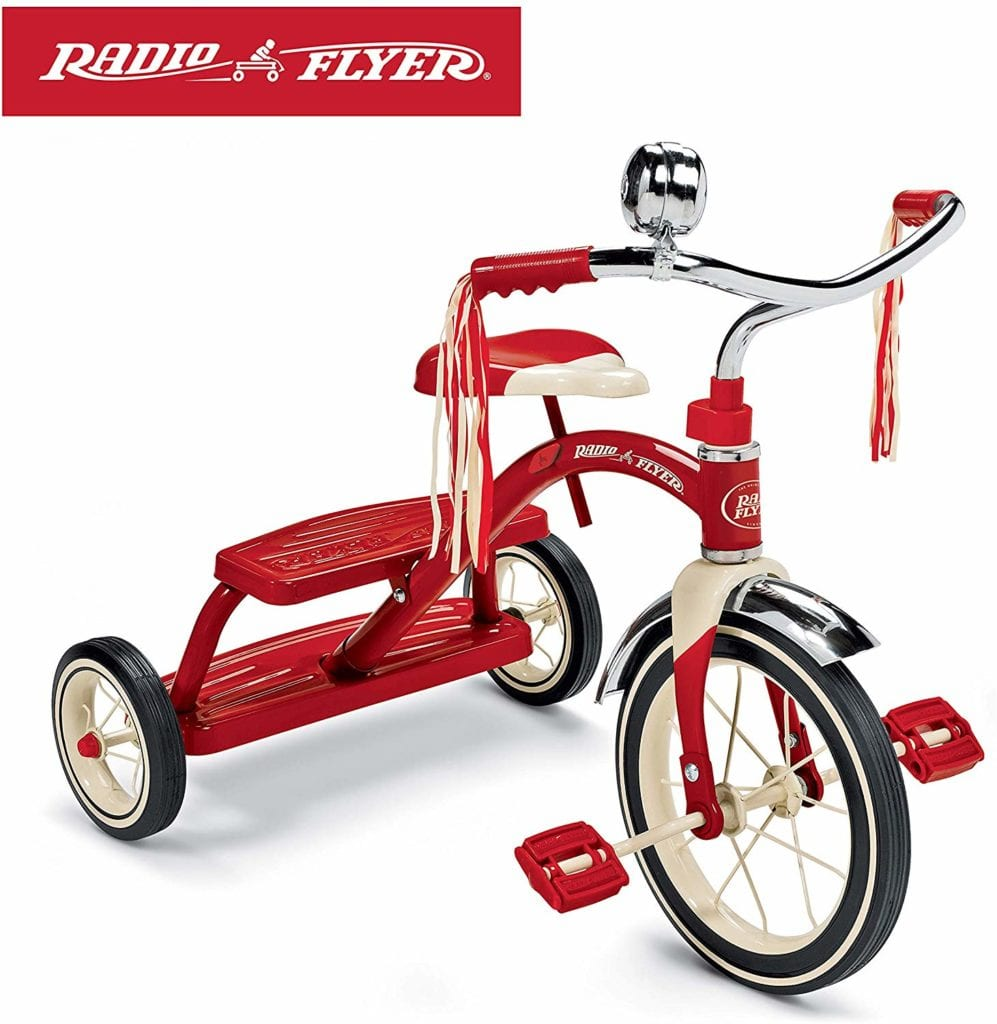 best toddler bikes - Radio Flyer Classic Red Dual Deck Trike