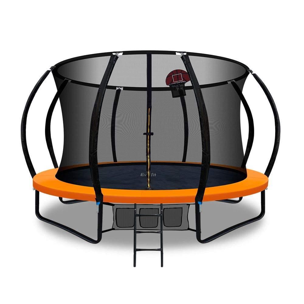 best trampolines for kids - Everfit Trampoline with Basketball Hoop