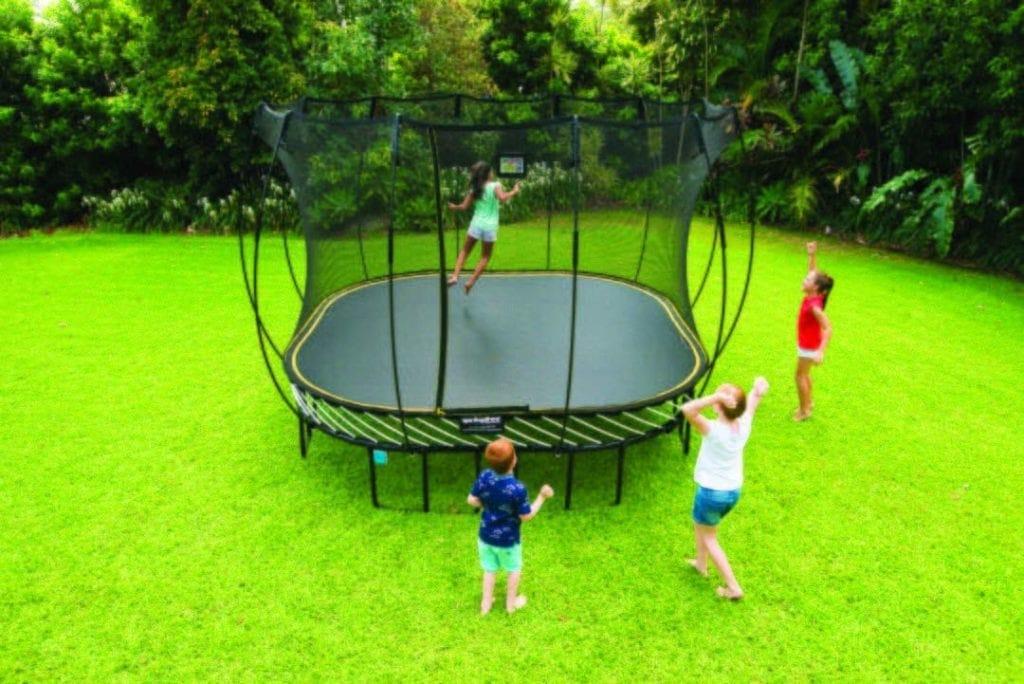 best trampolines for kids - Springfree Square Trampoline