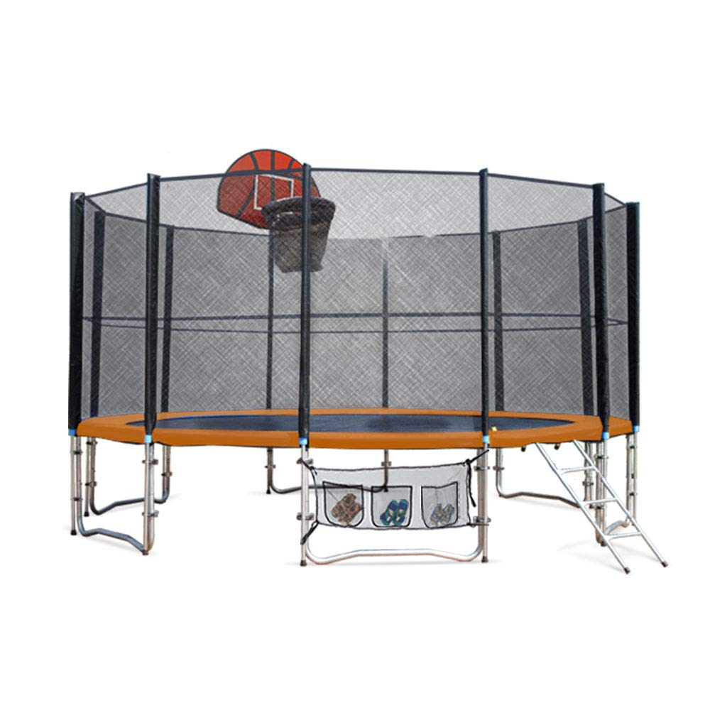 best trampolines for kids - Up-Shot Round Trampoline with Basketball Hoop