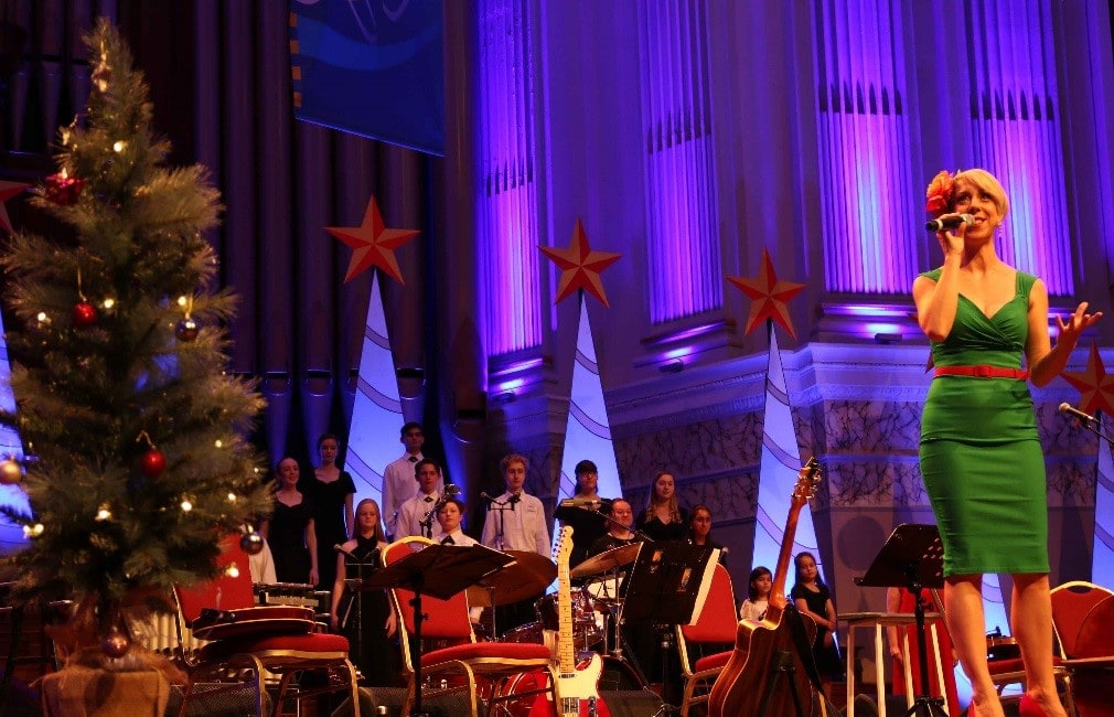 A Christmas Song Carole Performance Logan