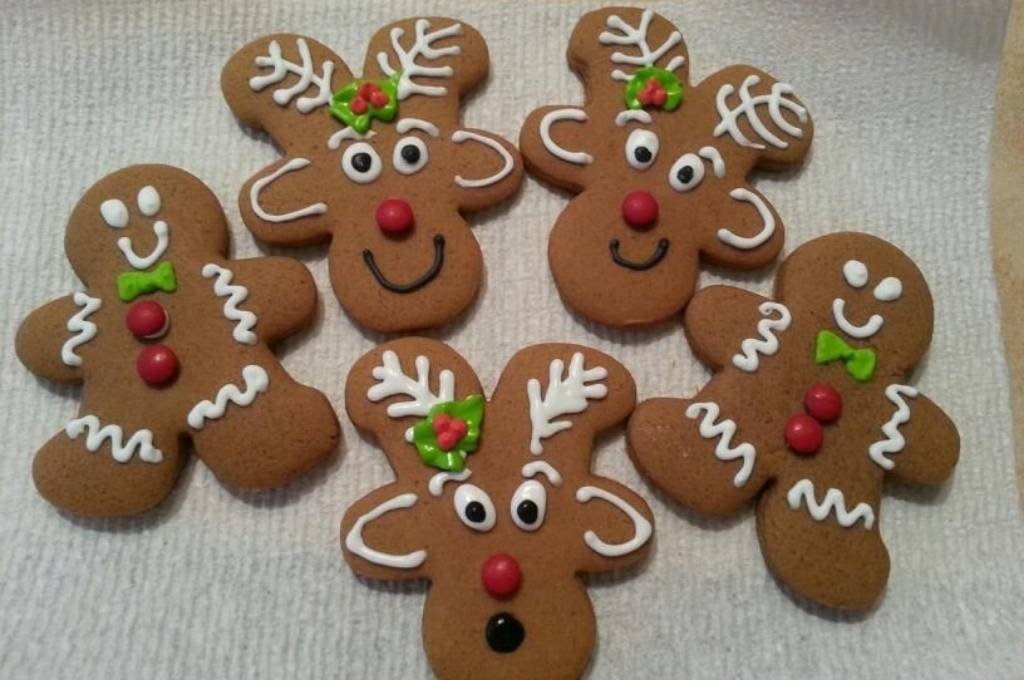 Reindeer Gingerbread Cookies Homemade Christmas Gifts