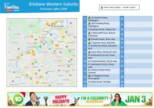 Brisbane Western suburbs Christmas lights 2020v