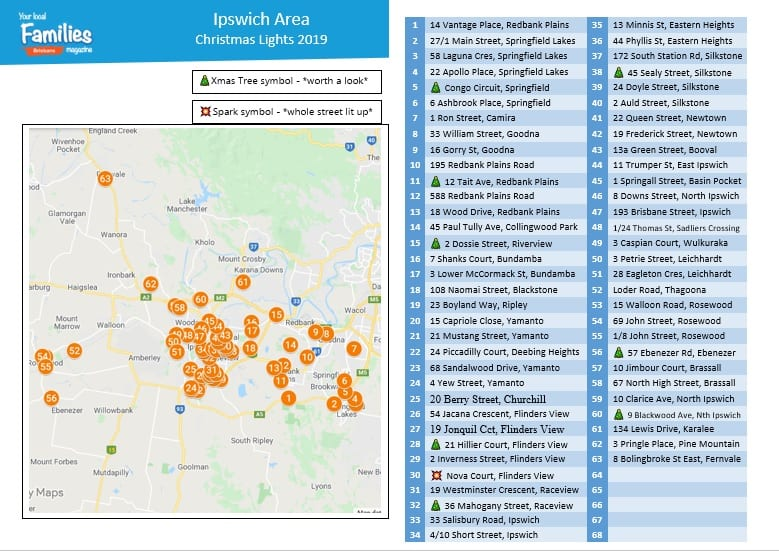 UPDATED - 2019 Ipswich Christmas lights map and lists image