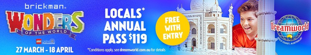 Lego at Dreamworld on the Gold Coast these Easter holidays