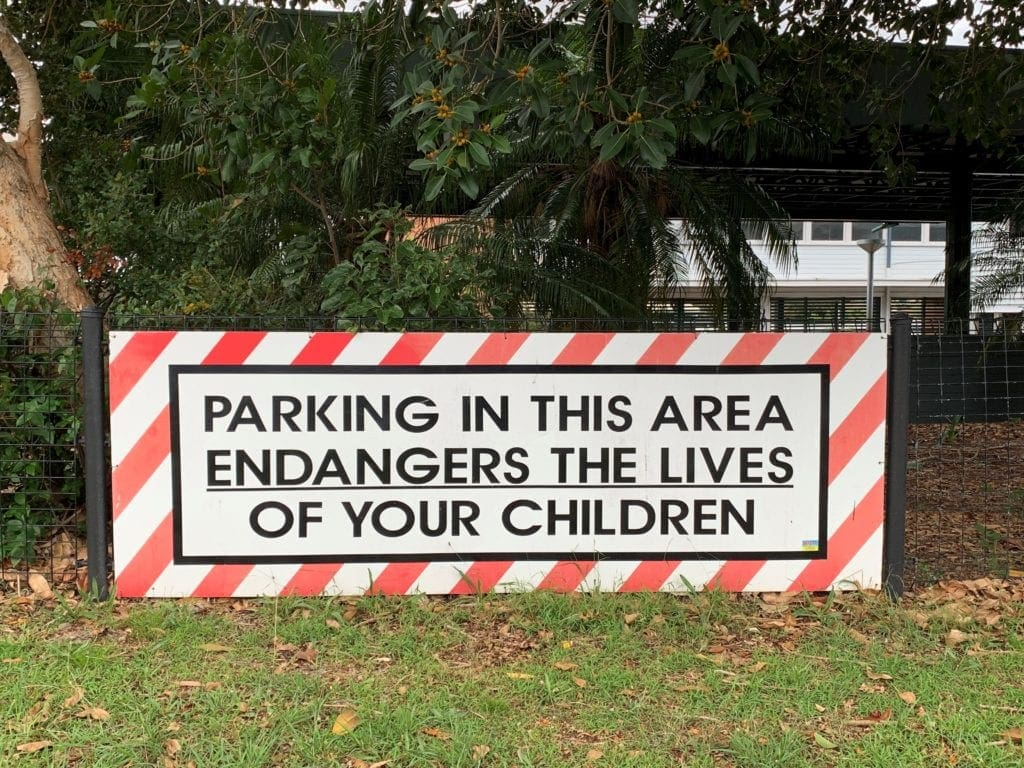 School Parking Warning