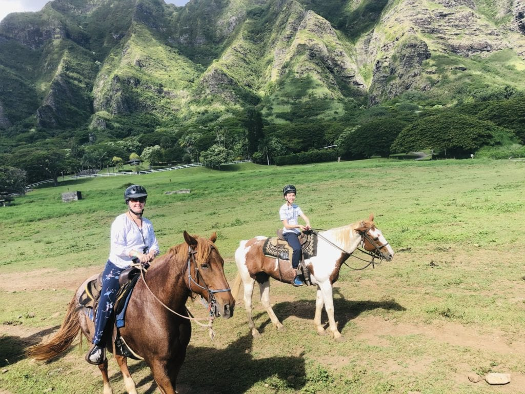 horse riding in Hawaii